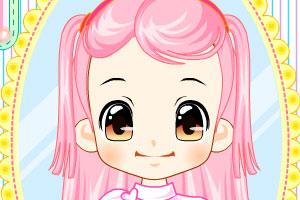 《可爱美眉剪头发》游戏画面1