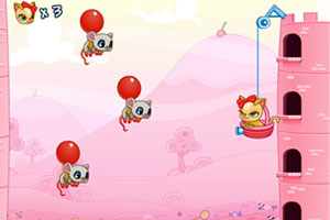 《糖果猫咪射气球》游戏画面1