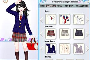 《可愛美眉新校服》游戲畫面1