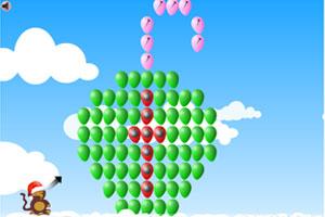 《小猴子射气球圣诞版》游戏画面1