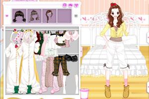 《美女的可爱睡衣》游戏画面1