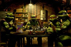 《忍者神龟聚餐》游戏画面1