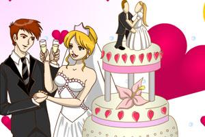 时尚蛋糕婚礼