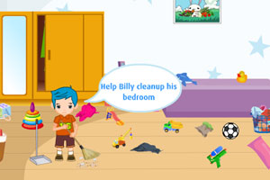 《帮小伙伴打扫房间》游戏画面1