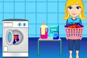 《姑娘洗衣服》游戏画面1