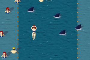 《鲨鱼VS游客》游戏画面1