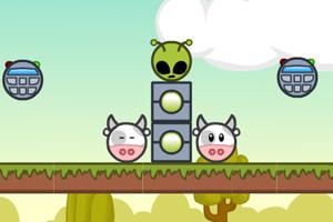 《奶牛大戰外星人》游戲畫面1