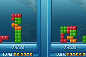 《双人PK版俄罗斯方块》游戏画面1