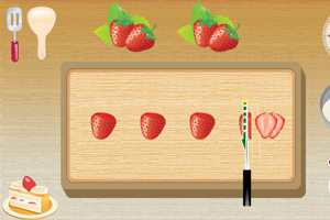 《草莓切块蛋糕》游戏画面1