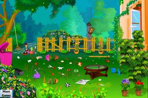 《打扫凌乱花园》游戏画面1