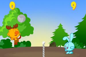 《森林动物排球》游戏画面1