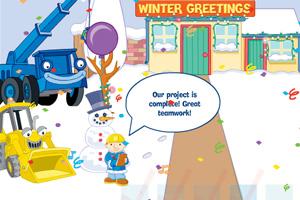 《巴布工程师清理积雪》游戏画面1