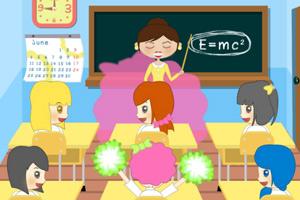 《女孩课堂捣蛋》游戏画面1