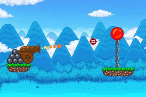 《炮打气球3修改版》游戏画面1