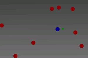《小蓝球吃豆》游戏画面1