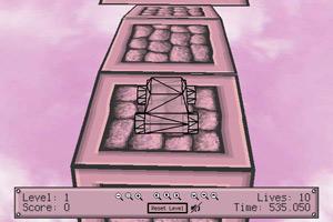 《3D大脚粉色天空》游戏画面1