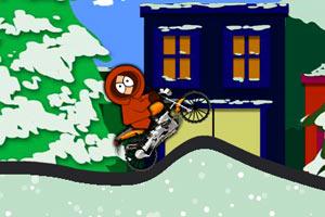 《冰雪公园摩托车》游戏画面1
