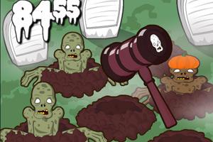 《打鼹鼠和僵尸》游戏画面1