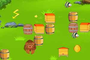 《大熊吃蜂蜜》游戏画面1