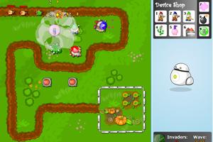《花园塔防变态版》游戏画面1