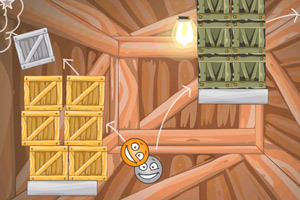 《小球撞箱子》游戏画面1