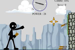 《火柴人扔飞刀》游戏画面1
