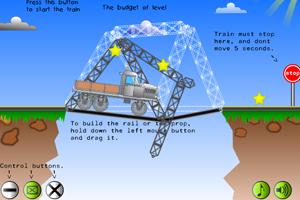 《搭建峡谷桥梁》游戏画面1