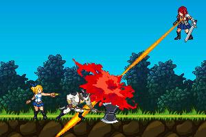 《激斗妖精的尾巴v0.5》游戏画面1