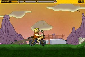 《摩登原始人摩托车》游戏画面1