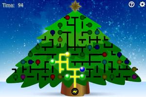 《点亮圣诞树彩灯》游戏画面1