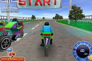 《3D摩托竞速》截图1