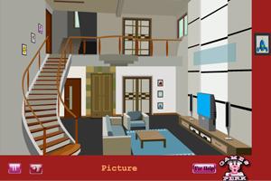 《逃脱别墅客厅》游戏画面1