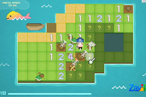 《钻石岛扫宝》游戏画面1