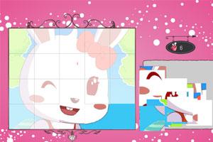 《兔小美拼图》游戏画面1