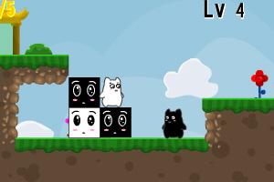 《双色猫大冒险无敌版》游戏画面1