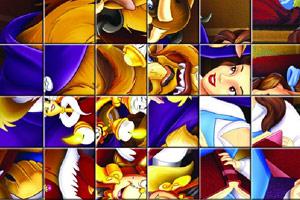 《美女与野兽拼图》游戏画面1