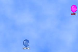 《打字射气球》游戏画面1