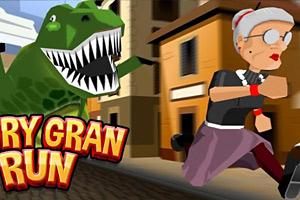 《愤怒奶奶玩跑酷》游戏画面1