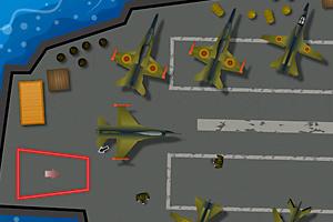 《停靠F22战斗机》游戏画面1
