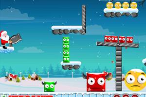 《红绿小怪找妈妈圣诞选关版》游戏画面1