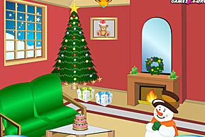 《圣诞节的客厅》游戏画面1