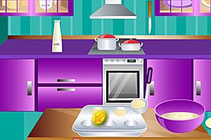 《做蝴蝶香蕉蛋糕》游戏画面1