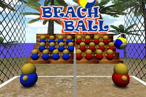 《沙滩排球比赛》游戏画面1