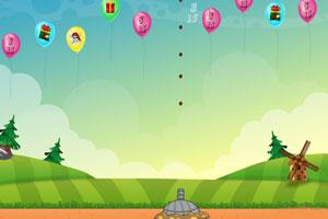 《大炮击落气球》游戏画面1