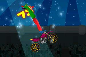 《小丑摩托特技表演》游戏画面1