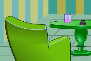 《绿色客厅逃脱》游戏画面1
