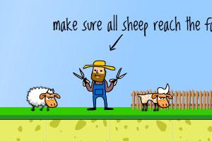 《送小羊来剪毛选关版》游戏画面1