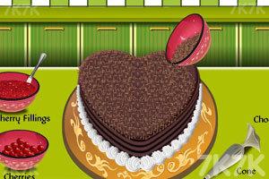《爱心巧克力蛋糕》游戏画面9