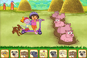 Play Dora Find Those Puppies