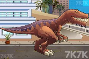《恐龙大战火箭车》游戏画面1